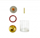 """LARGE 9/20 Pyrex Type/Gas Lens/3/32"""" Collet Kit: 1 7/8"""" (47MM)"""