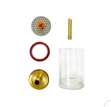 """LARGE 17/18/26 Pyrex Type/Gas Lens/3/32 Collet Kit:1 9/32"""" (32.5MM)"""